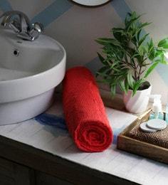 JBG Home Store Red 100% Cotton 30 X 60 Inch Bath Towel - 1 Bath Towel - 1616561