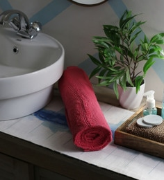 JBG Home Store Red 100% Cotton 30 X 72 Inch Bath Towel - 1 Bath Towel
