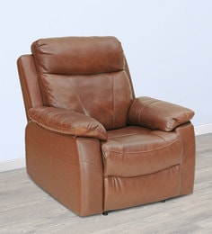 Jersey One Seater Recliner In Brown Colour By Royal Oak