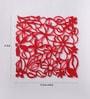 Red Plexi Glass Stylish Designer Screen Dividers - Set of 10 by JILDA