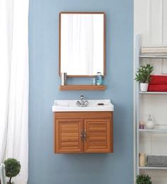 JJ Sanitaryware Aluminium Yellow Teak Bathroom Vanity (Model:JJv-10)
