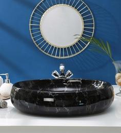 JJ Sanitaryware Ceramic Black Wash Basin (Model:JJb-54)
