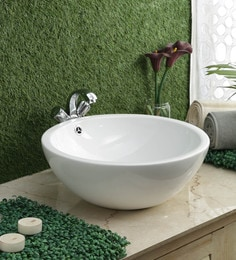 JJ Sanitaryware Ceramic White Wash Basin (Model:JJb-34)