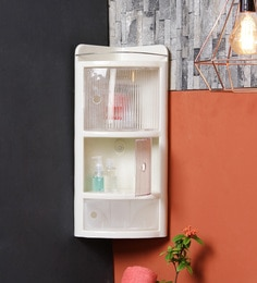 ivory plastic bathroom cabinet