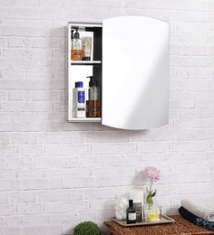 JJ Sanitaryware Lennon Stainless Steel Bathroom Mirror Cabinet at pepperfry