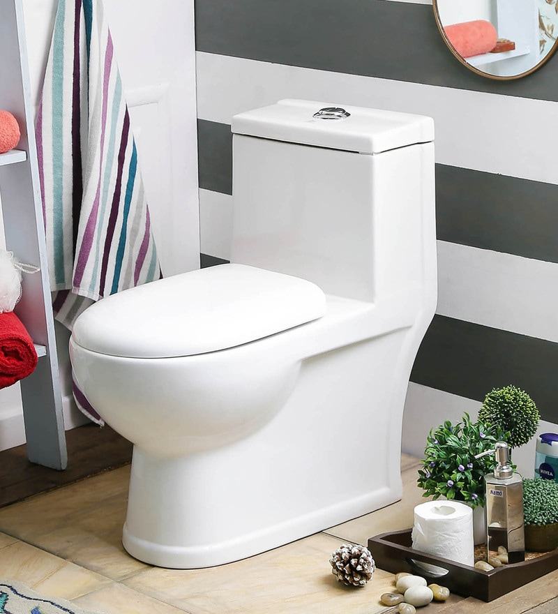 JJ Sanitaryware Albina 300 mm White Ceramic Water Closet