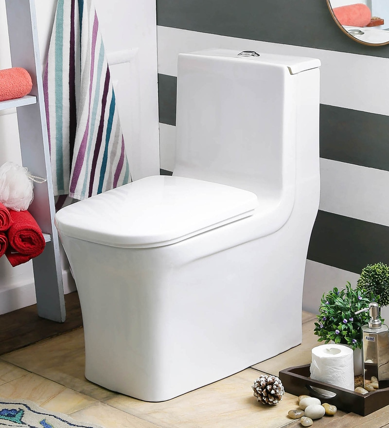 JJ Sanitaryware Alice 200 mm White Ceramic Water Closet
