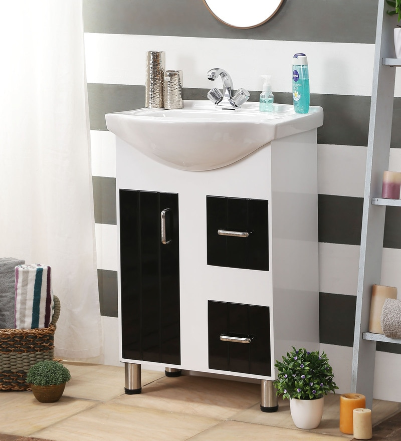 JJ Sanitaryware Black & White PVC Vanity (Model: Aarya 337)