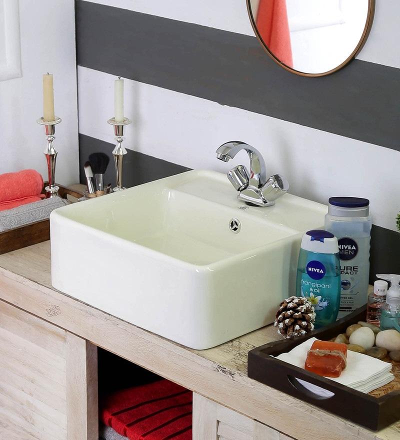 JJ Sanitaryware Carla Acb-301 Ivory Ceramic Wash Basin