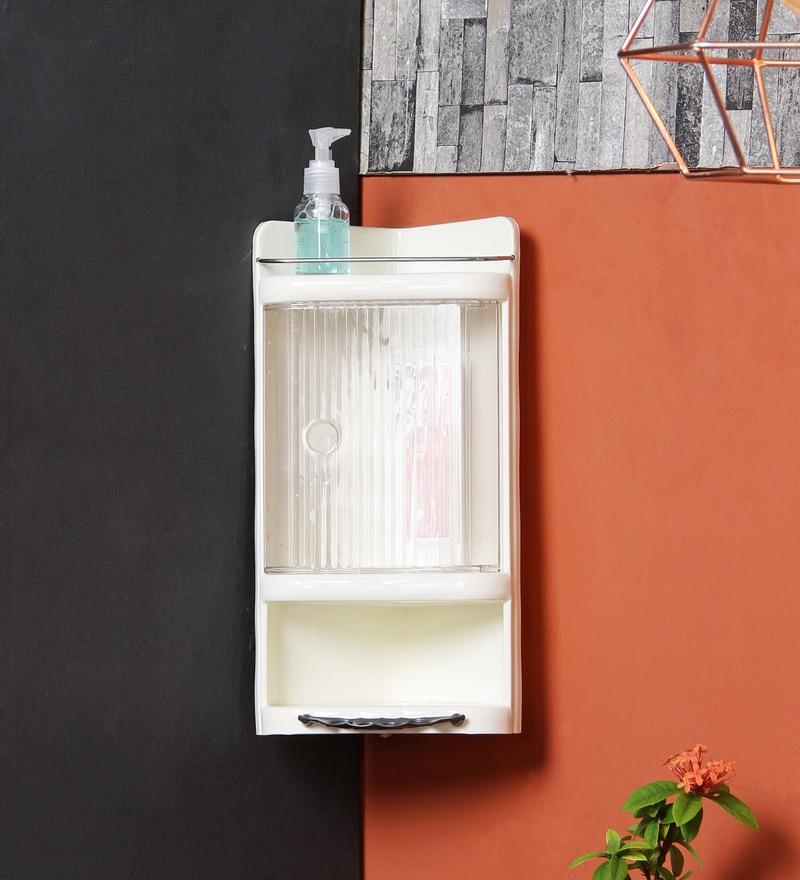 Ivory Plastic Bathroom Cabinet by JJ Sanitaryware
