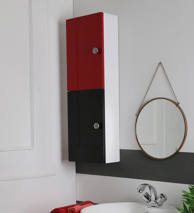 JJ Sanitaryware Len Black & White PVC Bathroom Cabinet