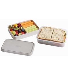 Joseph Joseph Go Eat Compact 2 In1 Lunch Box Grey Plastic
