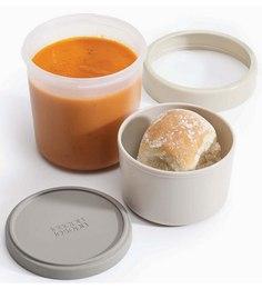 Joseph Joseph Go Eat Compact 2 In1 Souppot Grey Plastic