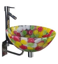 Joyo Cera Resin Designer Multicolour Wash Basin With Stand - 1691244