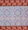Jodhaa Floral Brown And Blue Silk Table Mats - Set Of 8