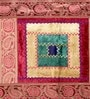 Jodhaa Geometric Maroon & Gold Velvet Table Runner