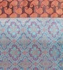 Jodhaa Paisley Blue & Brown Silk Table Runner