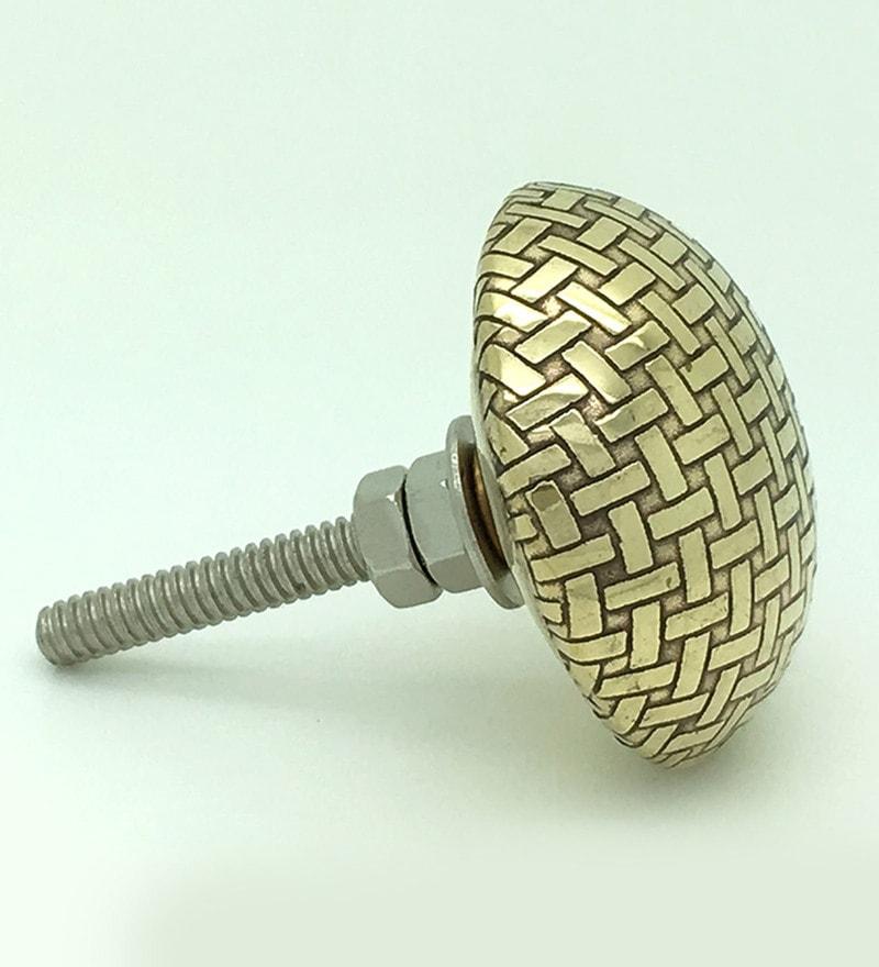 JP Hardware Gold Brass 1.5 Inch Door Knobs - Set of 4 (Model No : JP4002)