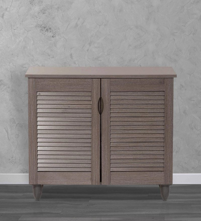 Jurou Two Door Shoe Cabinet in Two Tone Wenge Finish by Mintwud