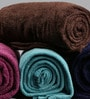 Multicolour Wool & Polyester Single Size Blanket - Set of 4 by Just Essential