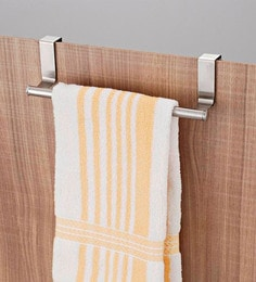 JVS Silver Stainless Steel Kitchen Towel Holder - Set Of 2