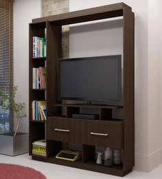 Kagami TV Unit in Nut Brown Finish