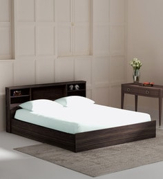 Kaito King Size Bed With Box Storage In Wenge Finish