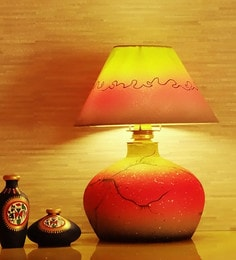Kalaplanet Multicolour Fabric Table Lamp - 1602051