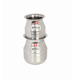 Kaveri Stainless Steel Storage Container Kalash - Set Of 2