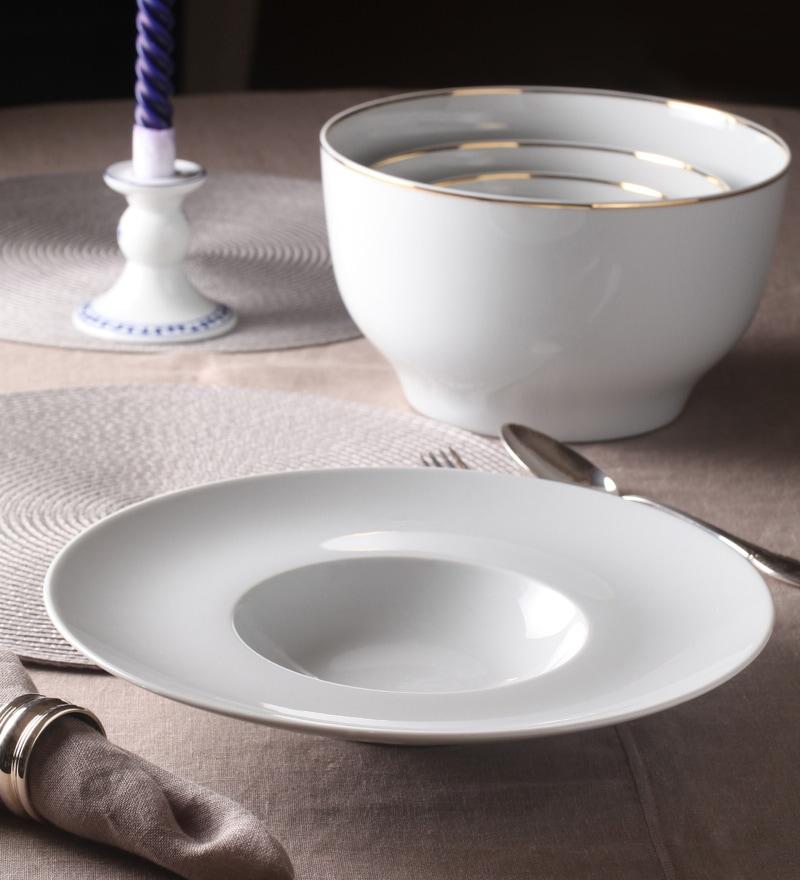 Kahla Magic Grip Diner White Porcelain Gourmet Plate