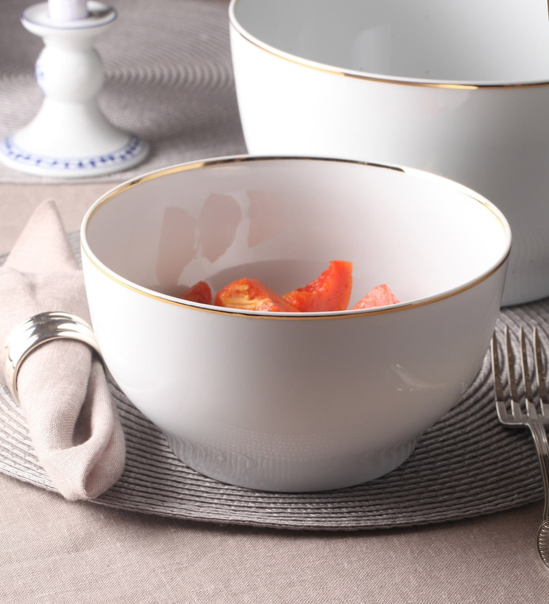 Kahla Magic Grip Line of Gold Diner Porcelain 1.7 L Bowl
