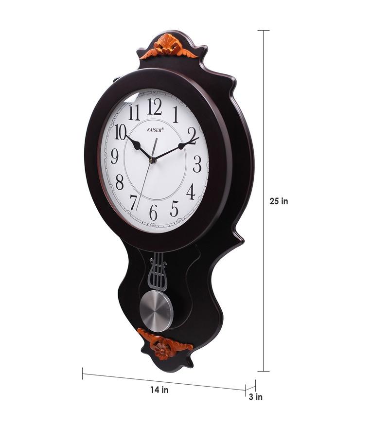Buy Kaiser Brown Wooden 12 x 12 Inch Pendulum 25 x 14 Inch Wall