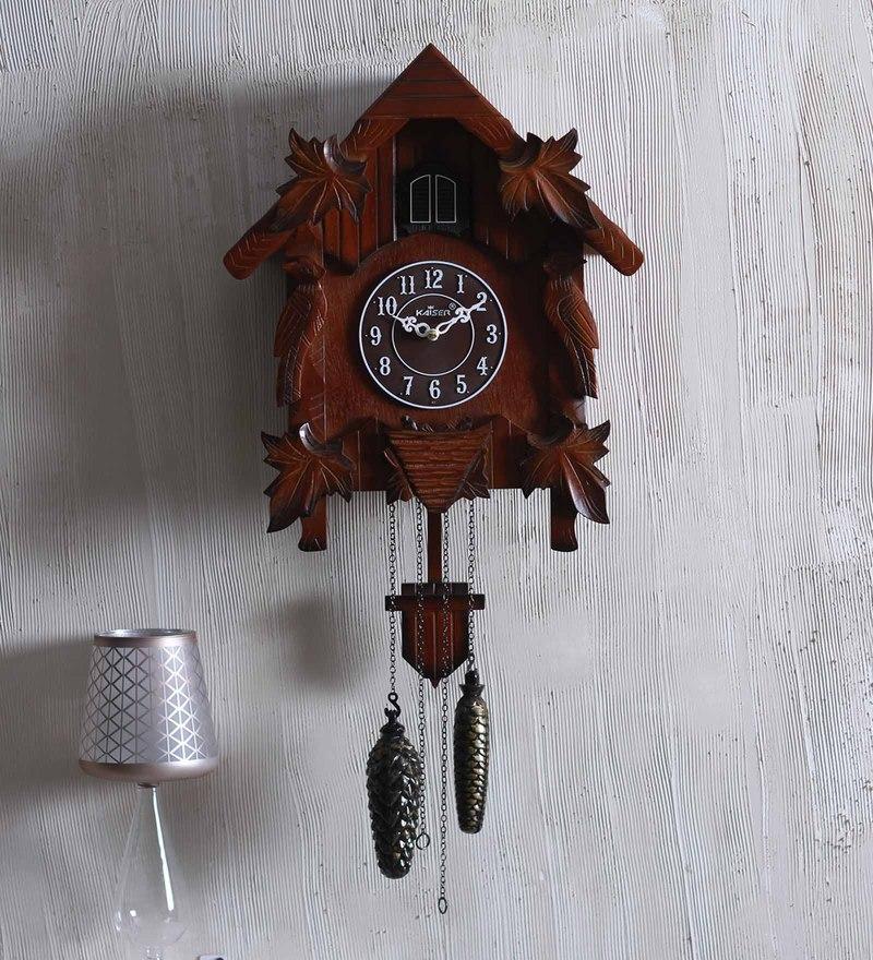 Kaiser Cola Wood 14.5 x 6.6 x 18 Inch Cuckoo Clock