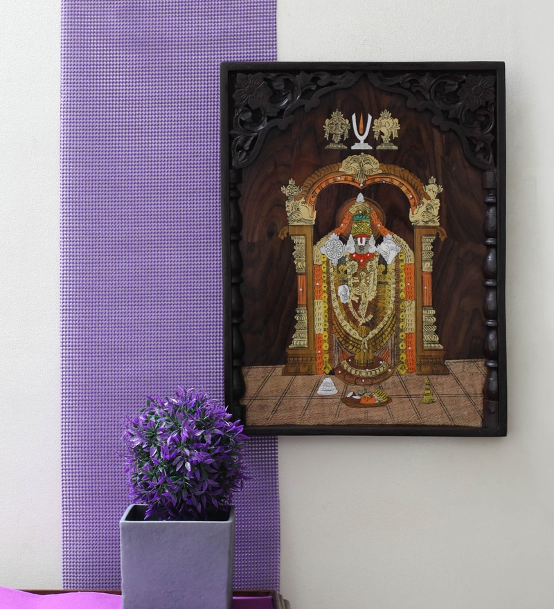 Balaji Rose Wood 20 x 1 x 15 Inch Framed Wall Painting by Kalaplanet