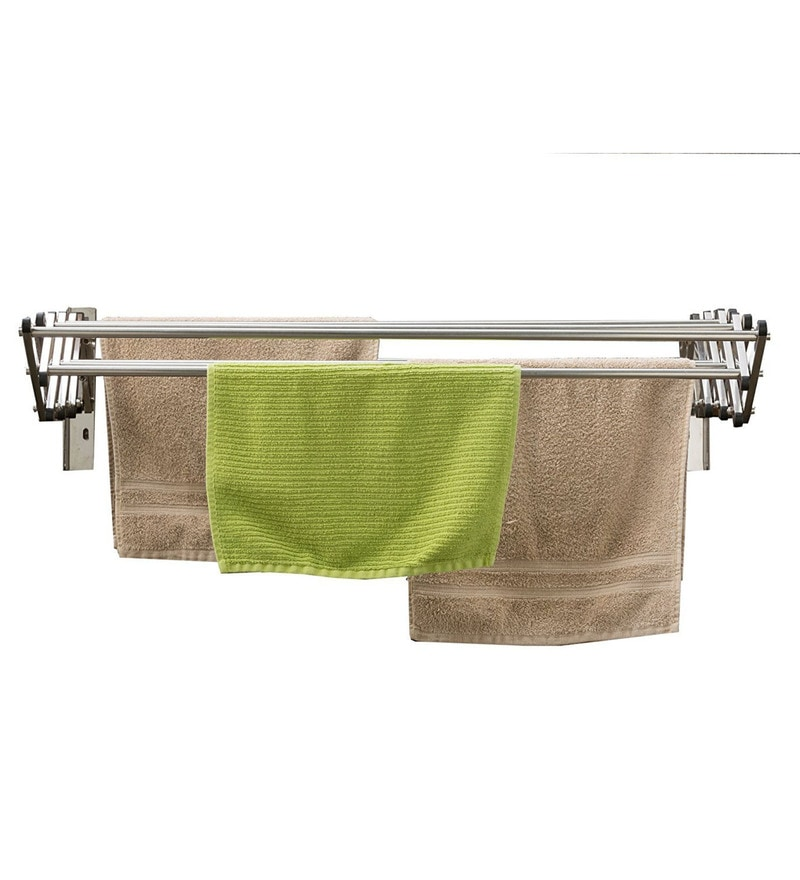 Kawachi Foldable Wall Mounted Stainless Steel Cloth Dryer