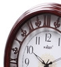 Brown Wooden 13.2 Inch Round Wall Clock by Kaiser