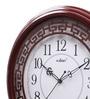 Kaiser Brown Wooden 15.7 Inch Round Wall Clock