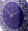 Purple Glass 15 Inch Round Wall Clock by Kaiser