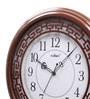 Kaiser Walnut Wooden 15.7 Inch Round Wall Clock