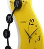 Kaiser Yellow Wooden 18 x 11 Inch Unusual Design Digits Clock