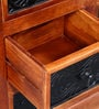Kalaya Handcrafted Chest of Drawers in Honey Oak Finish by Mudramark