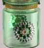 Gupta Glass Gallery Green Glass Tea Light Holder