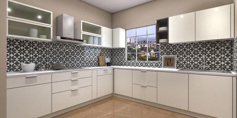 L Shaped Modular Kitchen: Buy L Shaped