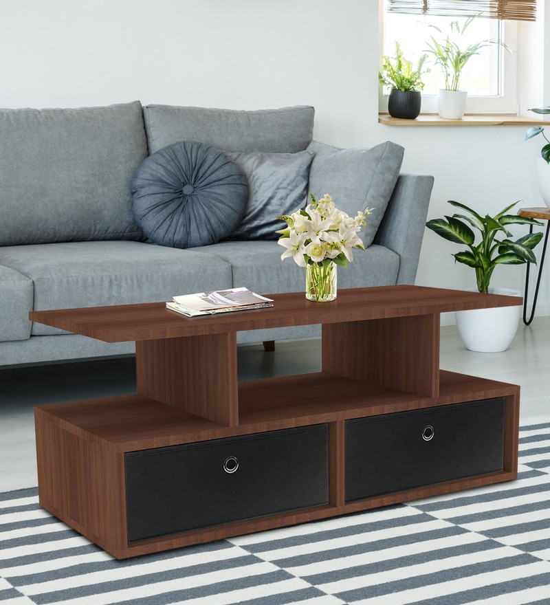 b53267718e6 Buy Floral Design Center Table in Brown Finish by ARRA Online ...
