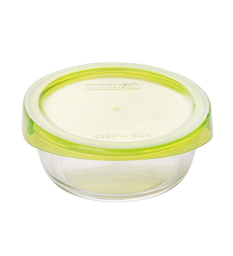 Luminarc Keep 'N' Box Green 880 Ml Bowl- Set of 2