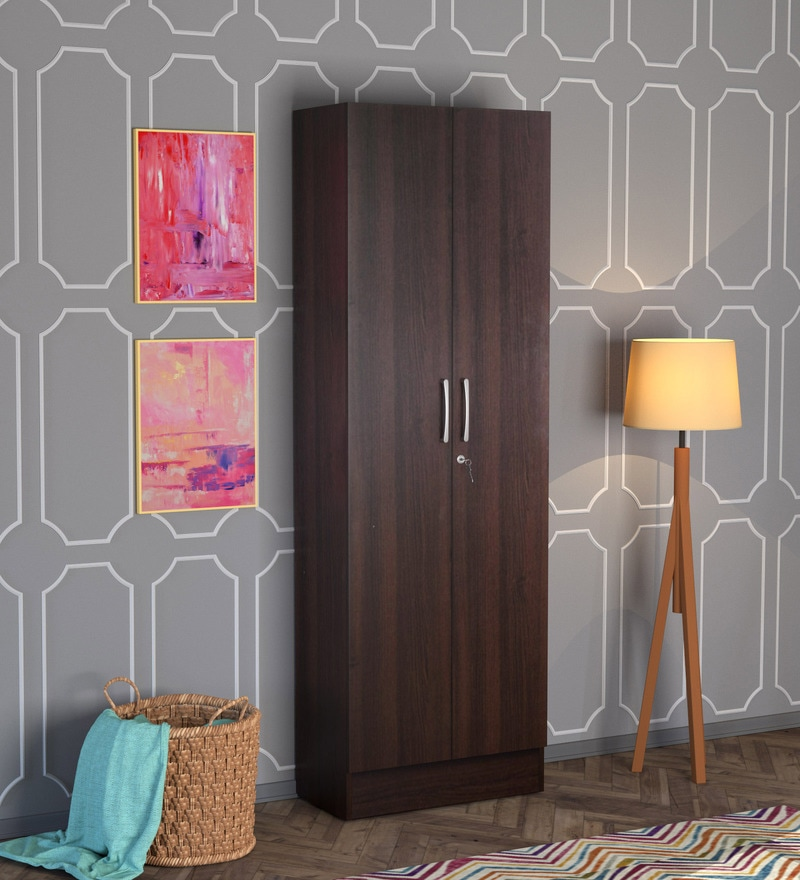 Buy Ultima Two Door Wardrobe with Mirror in walnut Colour by