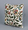 Multicolour Wool & Cotton 20 x 20 Inch Scroll Cushion Cover by KEH