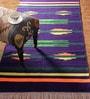 Multicolour Cotton 84 x 48 Inch Upkaar Dhurrie by Khadi