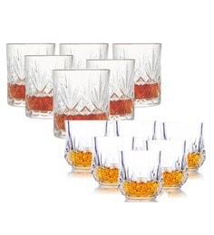 King International Crystal Heavy Based Whisky Glasses - Set Of 10