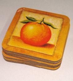 King International Wooden Fibre Desginer Coasters - Set Of 6